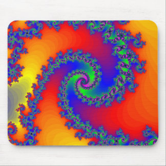 Colorful Fractal Spiral: Mouse Mat
