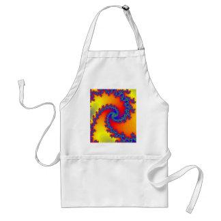 Colorful Fractal Spirals: Adult Apron