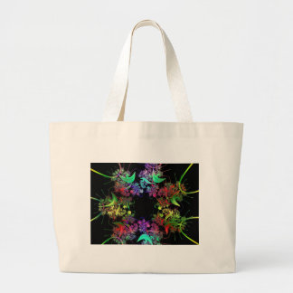 Colorful Fractal Canvas Bags
