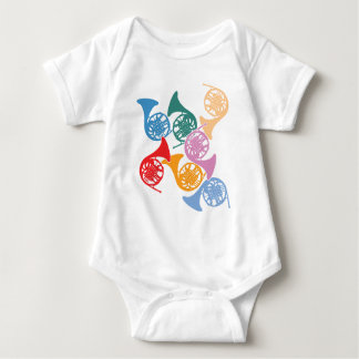 Colorful French Horns Infant Creeper