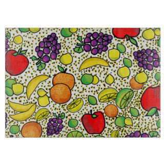 Colorful Fresh fruits  Kitchen Cutting Board
