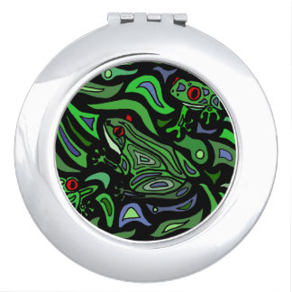 Colorful Frog Abstract Art Design Vanity Mirror