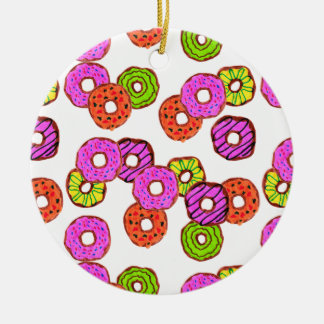 colorful frosted donuts doughnut with sprinkles christmas ornament