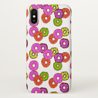 colorful frosted donuts doughnut with sprinkles iPhone x case