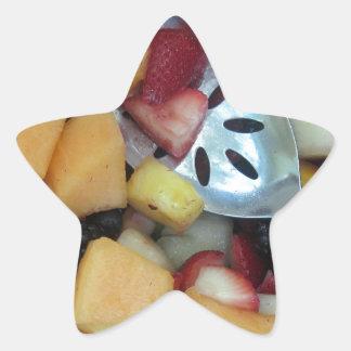 Colorful Fruit Assortment Star Sticker