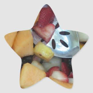 Colorful Fruit Assortment Star Stickers