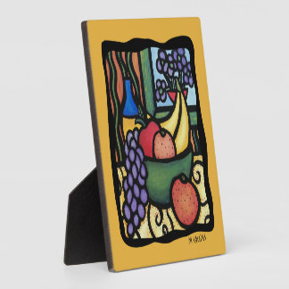 Colorful Fruit Bowl Plaque