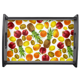 Colorful fruits pattern serving tray