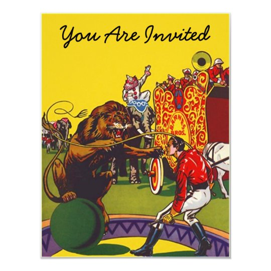 COLORFUL FUN CIRCUS PARTY THEME INVITE INVITATION