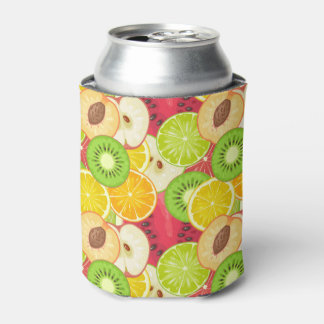 Colorful Fun Fruit Pattern Can Cooler