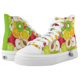Colorful Fun Fruit Pattern High Tops