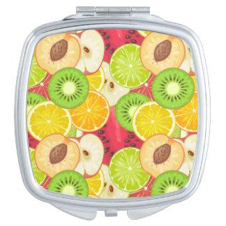 Colorful Fun Fruit Pattern Makeup Mirror