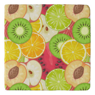 Colorful Fun Fruit Pattern Trivet