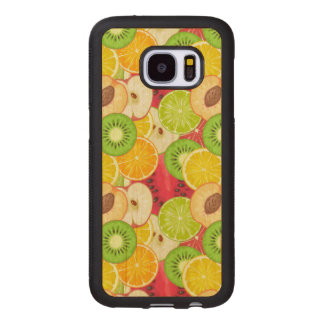 Colorful Fun Fruit Pattern Wood Samsung Galaxy S7 Case