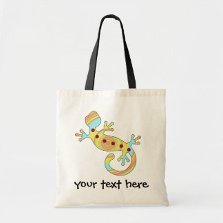 Colorful Fun Gecko Lizard Tote Bag