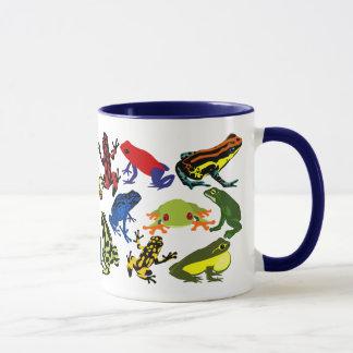 Colorful, Fun Poison Dart frogs, Tree frog Mug
