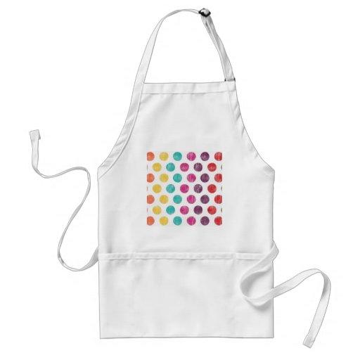 Colorful Fun Retro Polka Dot Pattern Aprons