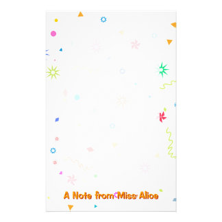 Colorful Fun Stationery | Note