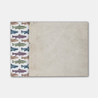 Colorful Fun Trout Fish Pattern Post-it Notes
