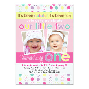 twins 1st birthday invitations zazzle uk