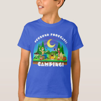 "Colorful Fun ""Weekend Forecast: Camping"" T-Shirt"