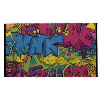 Colorful funky and Urban Graffiti art iPad Folio Cover
