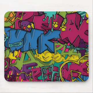 Colorful, funky and Urban Graffiti art Mouse Mat