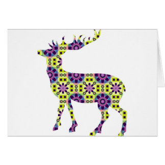 Colorful funky deer card