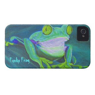Colorful funky frog iPhone 4 case