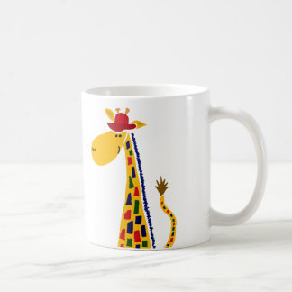Colorful Funky Giraffe Art Coffee Mug