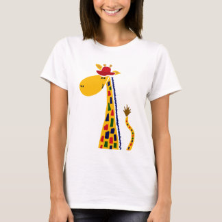 Colorful Funky Giraffe Art T-Shirt