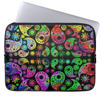 Colorful Funky Paisley Pattern. Laptop Sleeve