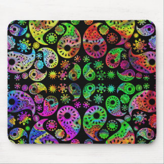 Colorful Funky Paisley Pattern. Mouse Mat
