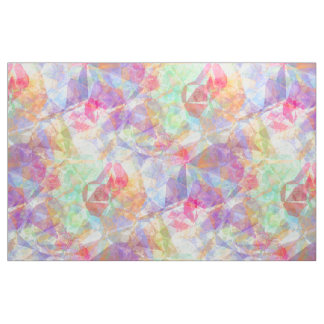 Colorful Funky Retro Cool Polygon Mosaic Pattern Fabric