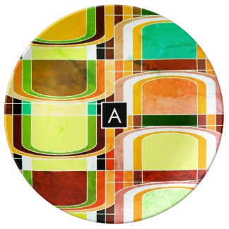 Colorful Funky Retro Inspired Plate