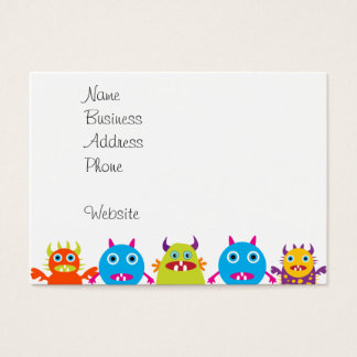 Colorful Funny Monster Party Creatures Bash