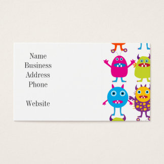 Colorful Funny Monster Party Creatures Bash Business Card