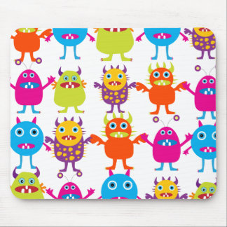 Colorful Funny Monster Party Creatures Bash Mousepad