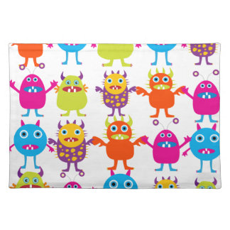 Colorful Funny Monster Party Creatures Bash Placemat