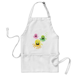 Colorful funny octopi standard apron
