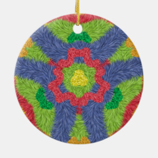Colorful furry pattern christmas tree ornaments
