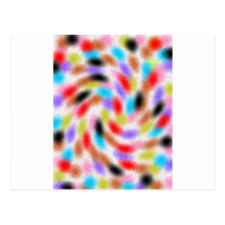 Colorful fussy postcard