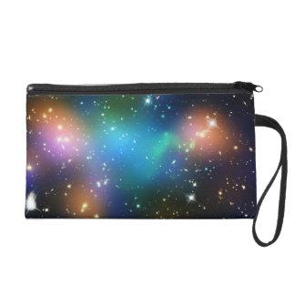 Colorful Galaxies Wristlet Purses
