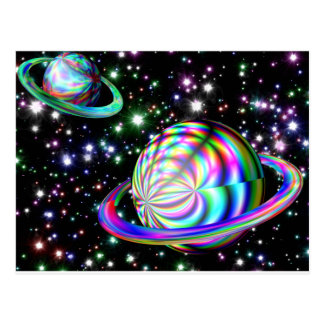 colorful galaxy post cards