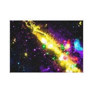 Colorful galaxy space nebula stars illustration gallery wrap canvas