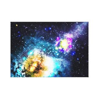 Colorful galaxy space nebula stars illustration canvas prints