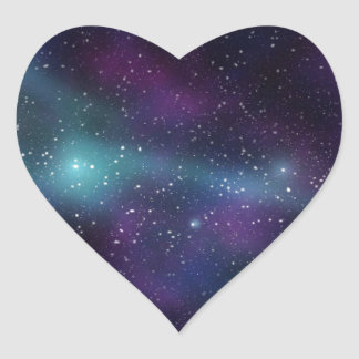 Colorful galaxy space stickers