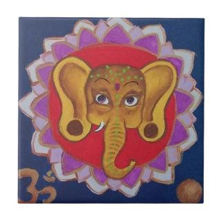 Colorful Ganesha Small Square Tile