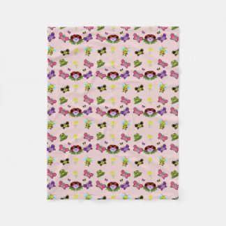 Colorful Garden Fleece Blanket