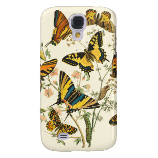 Colorful Gathering of Butterflies and Caterpillars Galaxy S4 Case